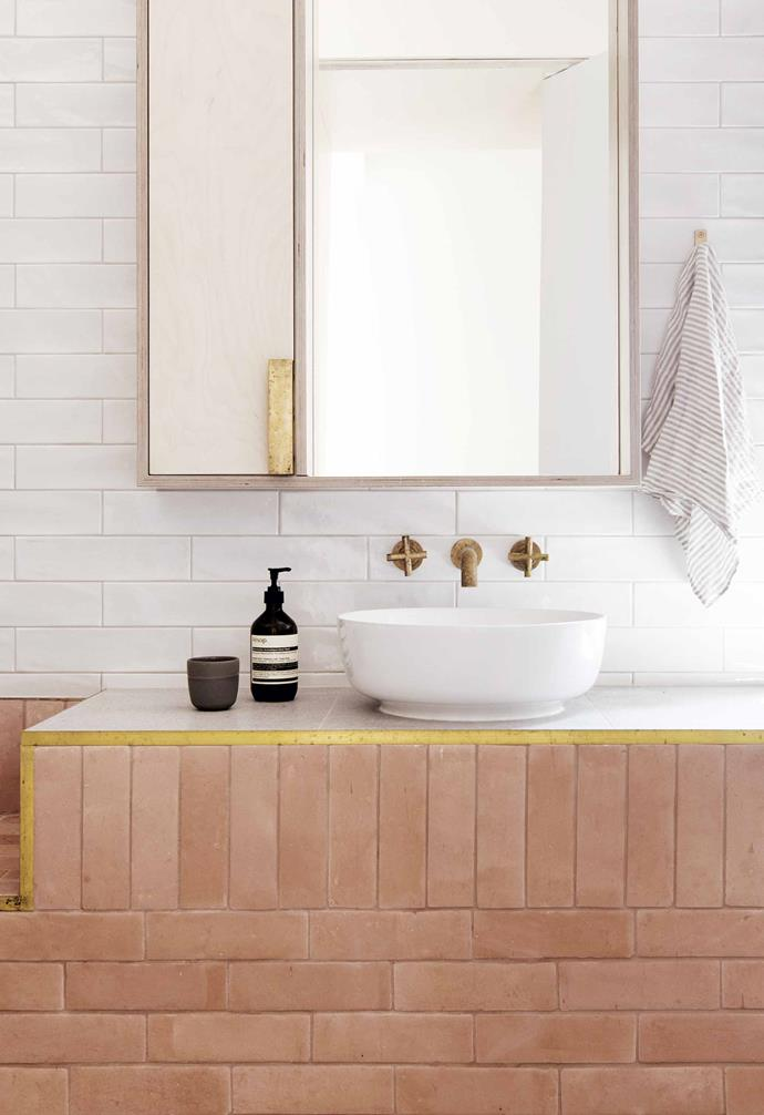 "**Three-piece suite** <br><br>Utilising rugged and raw materials specifically chosen to weather with age, the bathroom of [TRIAS](https://www.trias.com.au/|target=""_blank""