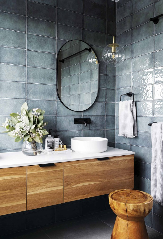 "**Little mix** <br><br>It's not always easy to create that coveted lived-in feeling in a new build, but the texture-rich bathroom of the Denman Prospect Residence in Canberra's Molonglo Valley has it in spades. <br><br>Designed by [Studio Black Interiors](https://www.studioblack.com.au/|target=""_blank""