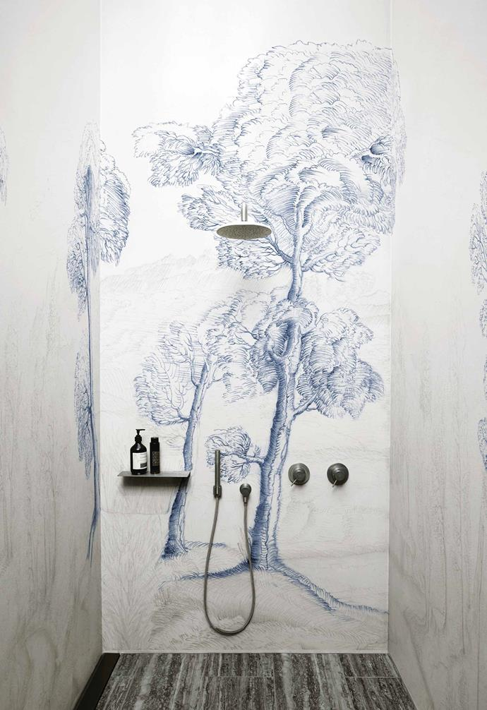 """**Wall-to-wall art** <br><br>Let's face it, [wallpaper](https://www.homestolove.com.au/statement-wallpaper-designs-5696 target=""""_blank"""") and wet areas haven't always gone hand-in-hand, but thankfully there is now a range of purpose-designed wallcoverings suitable for bathrooms, kitchens and spas. <br><br>Wet System decorative wallpapers by Italian company [Wall&Decò](https://www.wallanddeco.com/ target=""""_blank"""" rel=""""nofollow"""") are watertight and suitable for surfaces such as cement, plasterboard, concrete, glass and ceramic tiles. <br><br>Best of all, the collection includes hundreds of gorgeous patterns and designs (including Inner Forest) to suit any interior. Practical and so very pretty."""