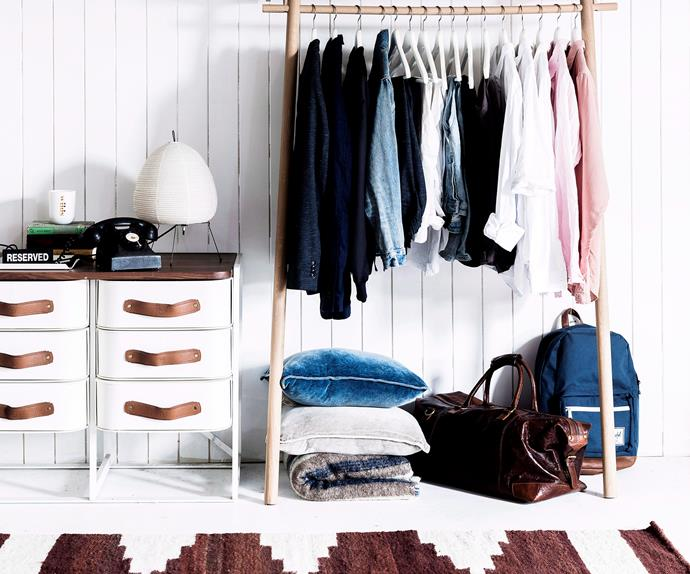 wardrobe organising ideas