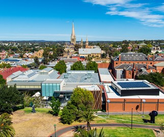 Bendigo Gallery aerial view