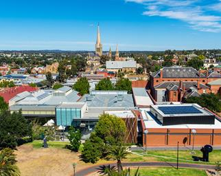 Bendigo Gallery aerial view