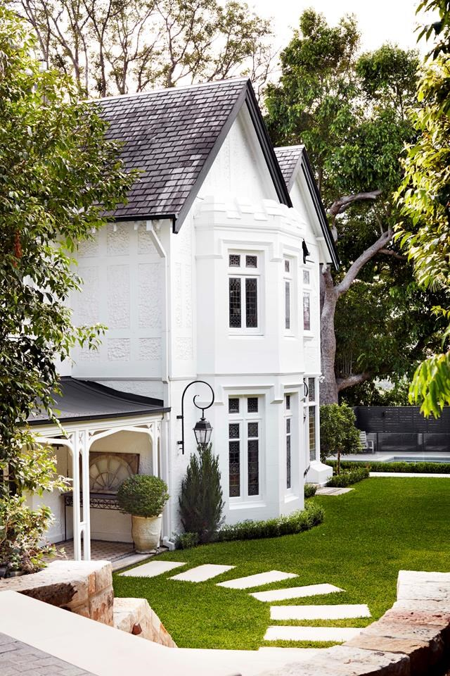 """While the exterior of this home in Sydney's inner east celebrates the [Gothic Revival style](https://www.homestolove.com.au/gothic-revival-home-19307 target=""""_blank""""), inside it tells another story – with twists and surprises. Revamp by Tanya Hancock of Hancock Architects. *Photograph*: Prue Ruscoe. From *Belle* November 2018."""