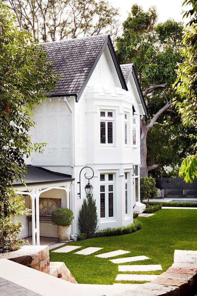 "While the exterior of this home in Sydney's inner east celebrates the [Gothic Revival style](https://www.homestolove.com.au/gothic-revival-home-19307|target=""_blank""), inside it tells another story – with twists and surprises. Revamp by Tanya Hancock of Hancock Architects. *Photograph*: Prue Ruscoe. From *Belle* November 2018."