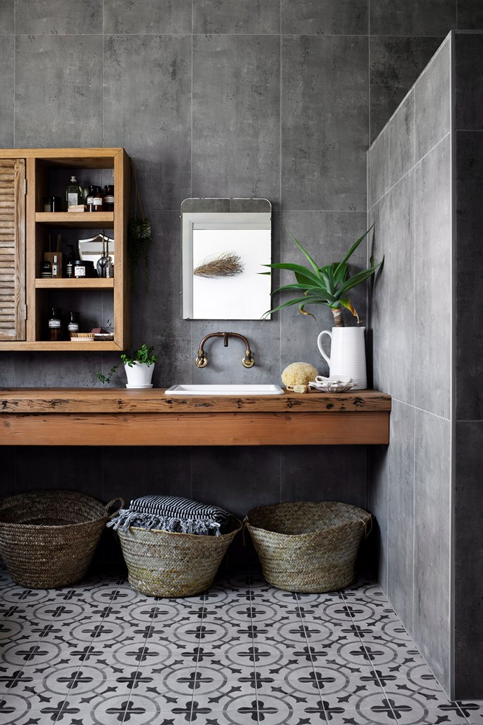 While plain and simple works for some, others may appreciate the more ornate things in life. If you sit in the latter camp, consider adding a gilded mirror, vintage vanity or hand-painted feature tile for a bathroom you'll never want to leave. *Photo:* Brigid Arnott / *bauersyndication.com.au*