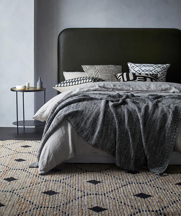 "The understated pattern of this [Denali rug](https://www.weavehome.com.au/denali-rug-sandstorm|target=""_blank""