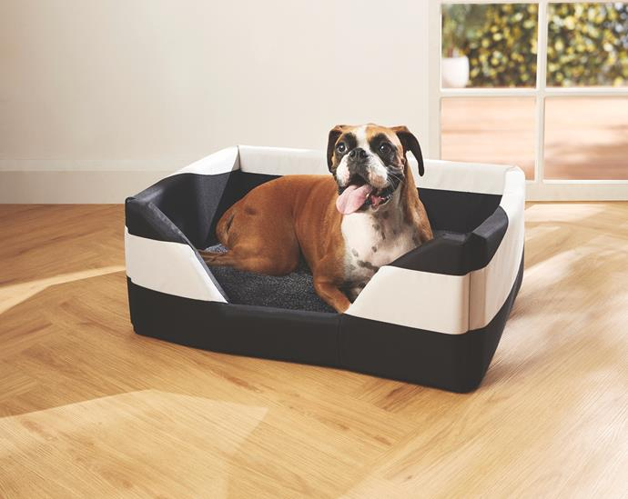 Dog Bed with Heating Mat, $34.99.
