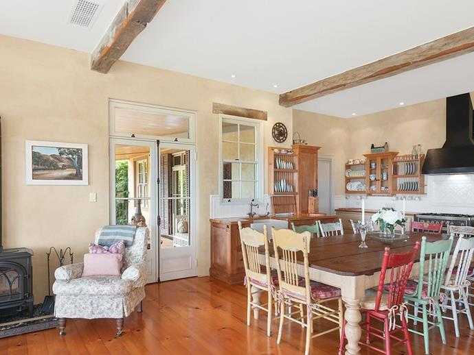 "The expansive, [traditional country-style](https://www.homestolove.com.au/traditional-english-style-country-cottage-12235|target=""_blank"") kitchen. *Photo: [McGrath](https://www.mcgrath.com.au/buy/house/nsw/northern-rivers/dalwood/393492