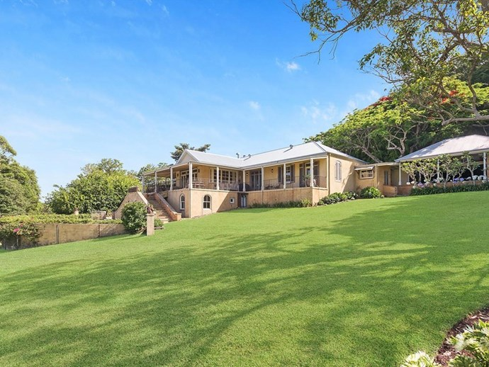 """The grand homestead is perched atop a hill. *Photo: [McGrath](https://www.mcgrath.com.au/buy/house/nsw/northern-rivers/dalwood/393492