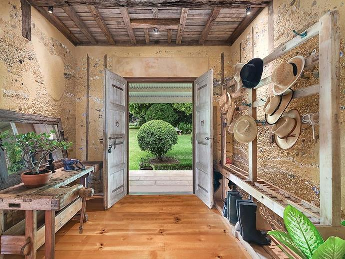 "The home has been decorated in a [French provincial style](https://www.homestolove.com.au/french-provincial-style-10-key-elements-6741|target=""_blank""). The walls of the entrance hallway are embedded with locally sourced shells and stones. *Photo: [McGrath](https://www.mcgrath.com.au/buy/house/nsw/northern-rivers/dalwood/393492