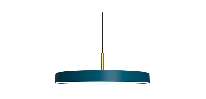 "Asteria Pendant, Petrol Blue, $405, at [RoyalDesign.com](https://royaldesign.com/au/asteria-pendant-white?gclid=CjwKCAjw_MnmBRAoEiwAPRRWWzeIepkc4x2t3R_PvshjD6-IFDcyWGDliZHUu4VIINluqs3sjm-YFRoCjr0QAvD_BwE#/196055|target=""_blank""|rel=""nofollow"")"