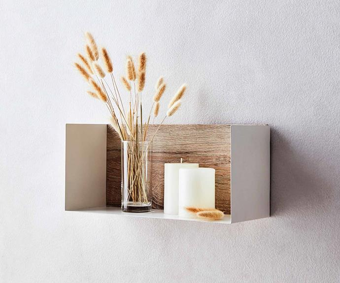 Kodu Genoa white cavity **shelf unit**, $39.