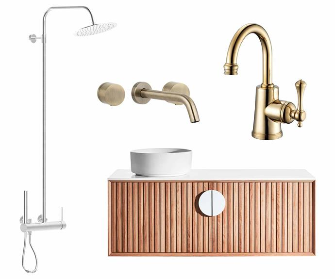 "**Top picks** (clockwise from left) Milli Inox freestanding stainless-steel rail shower and overhead, $1680, [Reece](https://www.reece.com.au/|target=""_blank""
