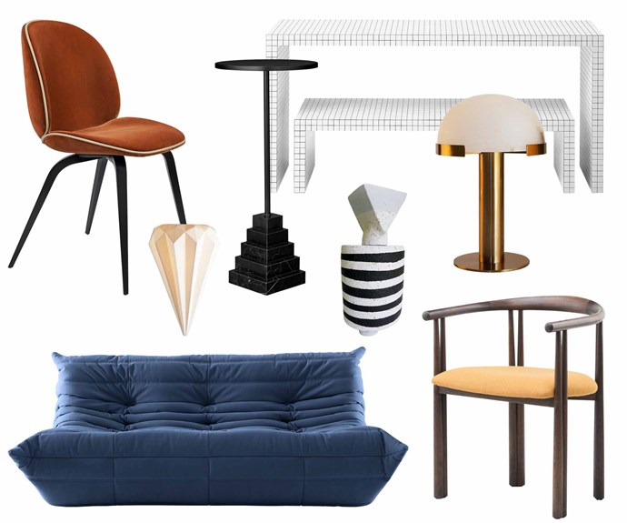 """**Designer fun** Eye-catching pieces that can withstand the love and attention of active children and dogs. **Get the look** (clockwise from left) Gubi 'Beetle' chair, $1530, [Cult](https://cultdesign.com.au/