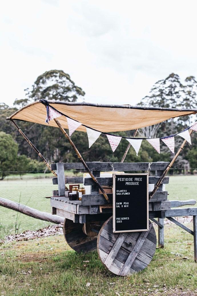 The PJ Local Produce cart.