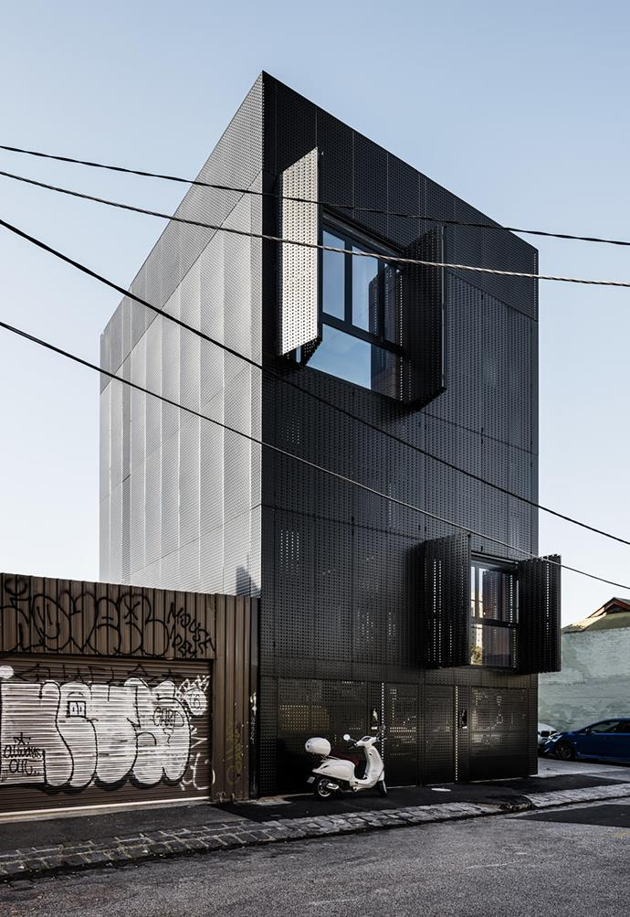 The six-level building in inner-city Collingwood sits neatly within the confines of a 76sqm site.