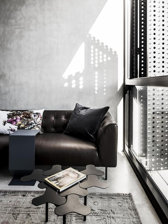 SCP 'Lansdowne' sofa, a Moroso rug, coffee table and 'Mark' side table, all from Hub.