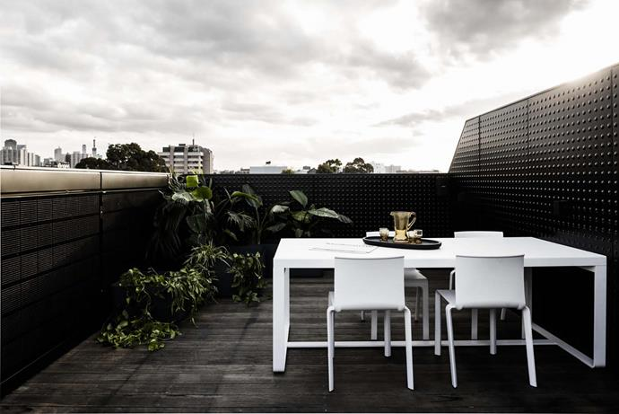Gandia Blasco outdoor furniture from Hub on the rooftop terrace, which enjoys views to the CBD.