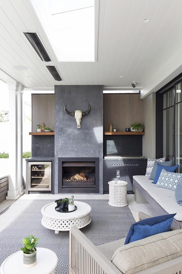 This undercover outdoor room has been designed for year-round comfort and enjoyment. *Photo:*    Simon Whitbread / *bauersyndication.com.au*