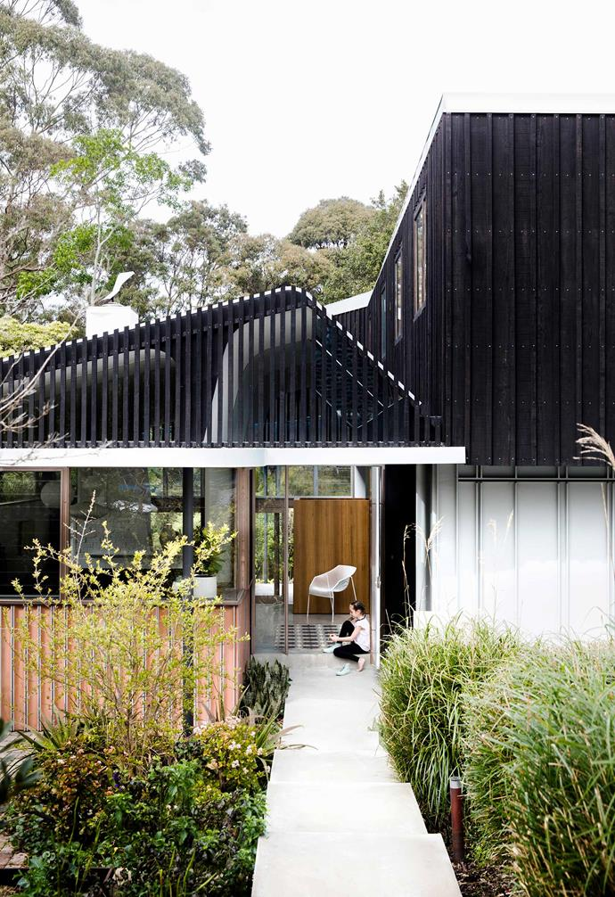 "Inspired by a childhood spent growing up in the bush, this [nature-inspired home in Riverview](https://www.homestolove.com.au/nature-inspired-house-riverview-20198|target=""_blank"") features a front garden filled with shrubs and plants that wouldn't seem out of place in the wild. *Architect: [David Boyle Architect](http://www.davidboylearchitect.com.au/
