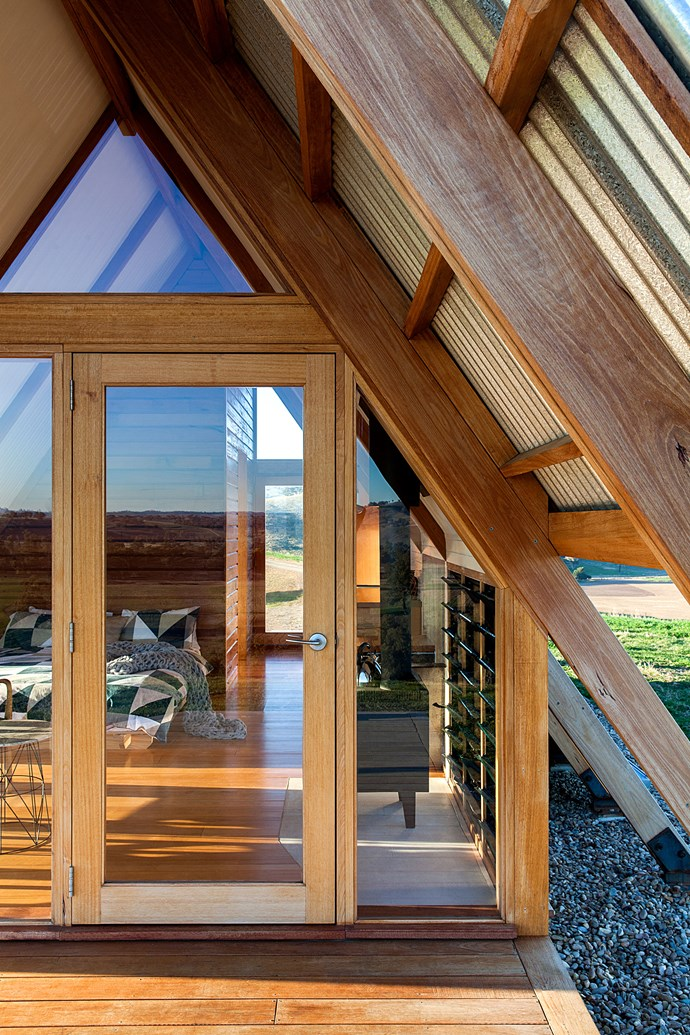 """Floor-to-ceiling windows on almost every side of the cabin ensure the structure maintains its connection to the landscape. *Photo: [Kimo Estate](http://www.kimoestate.com/