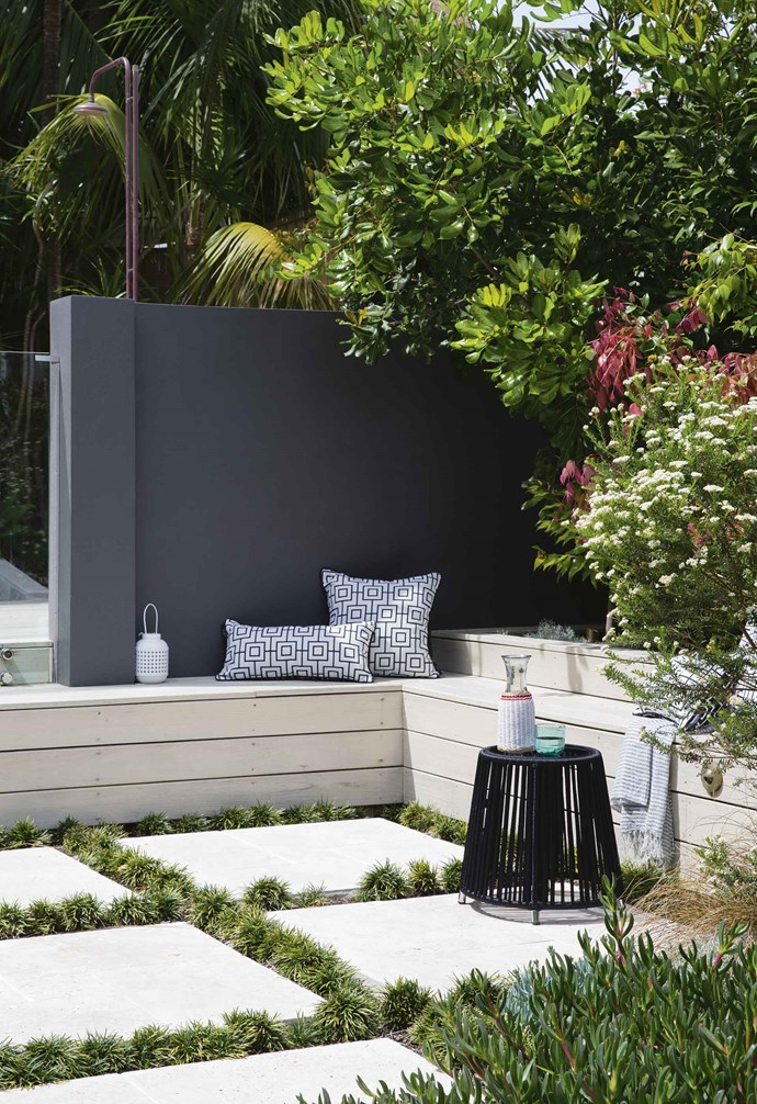 """As for the plants, Matt's team started from scratch, keeping only the pine and palm trees already on the property. """"We introduced a mix of [native](https://www.homestolove.com.au/how-to-pick-australian-native-plants-for-your-garden-3061