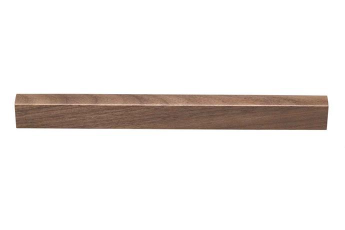 """**Pulls** L6582 walnut handle, $12.45-$17 (168mm-264mm), [Kethy](https://www.kethy.com.au/ target=""""_blank"""")."""