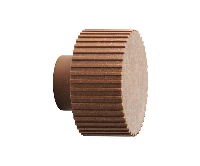 "**Knobs & wall hooks** Normann Copenhagen 'Chip' wall hook in Nature, $25, [Designstuff](https://www.designstuff.com.au/ target=""_blank"")."