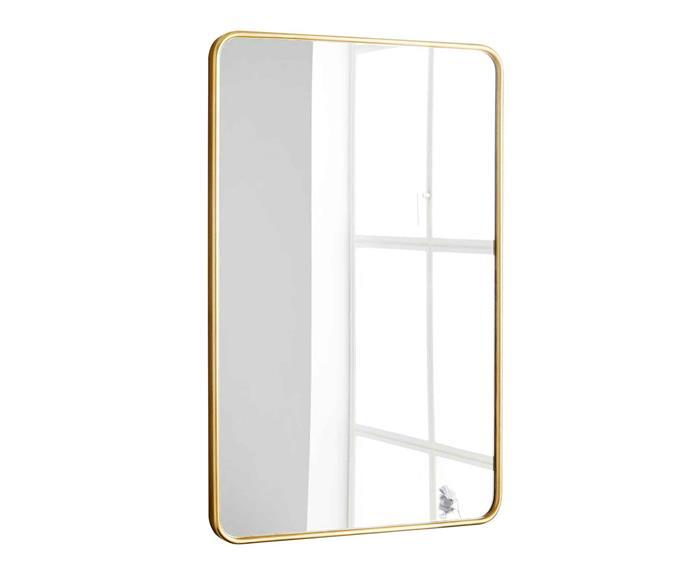 "**Mirror** Modern Streamline wall mirror, $399, [West Elm](http://www.westelm.com.au/|target=""_blank""|rel=""nofollow"")."