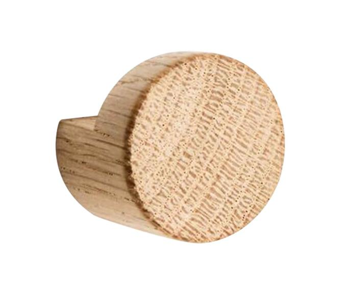 """**Knobs & wall hooks** By Wirth knot wall hook in Nature Oak, $55, [Nordic Rooms](https://www.nordicrooms.com.au/