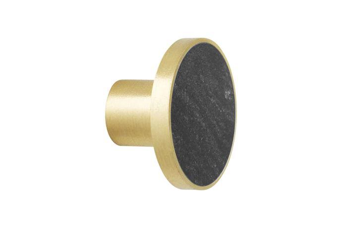 "**Knobs & wall hooks** Ferm Living hook knob in Black Marble, $99, [Designstuff](https://www.designstuff.com.au/|target=""_blank"")."