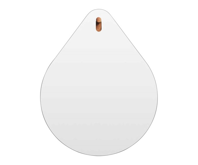 "**Mirror** Hang 1 Drop mirror, $699, [Blu Dot](https://www.bludot.com.au/|target=""_blank"")."
