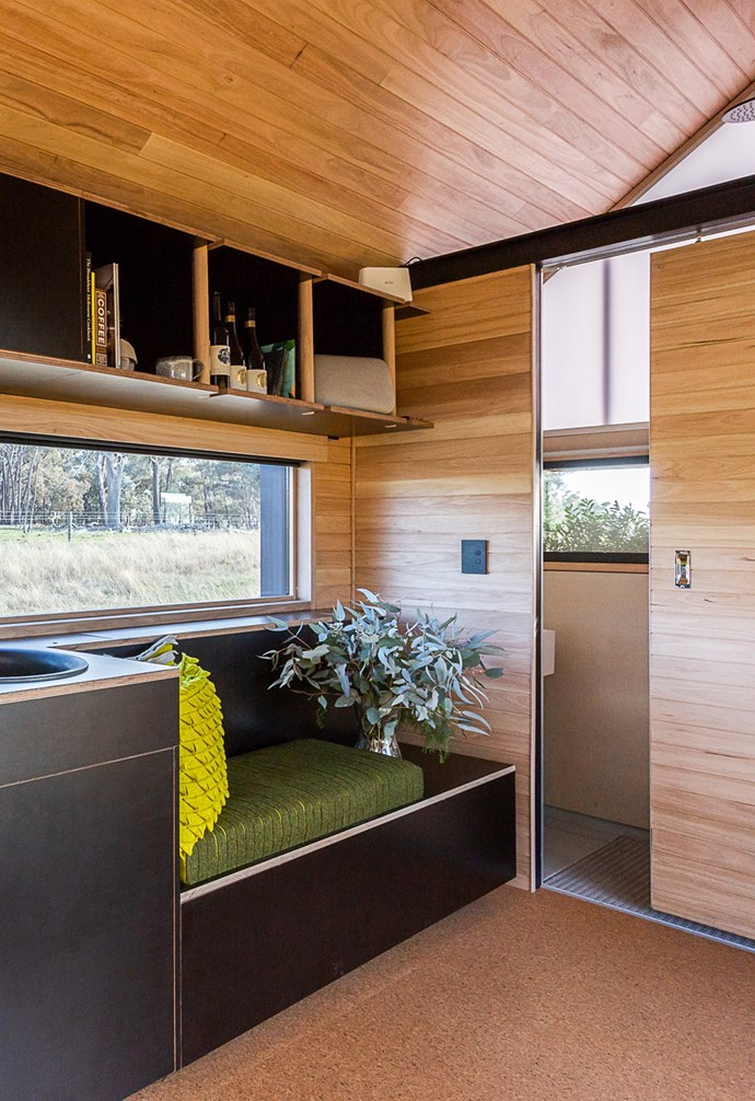 """RACV enlisted Peter Maddison to create a cosy tiny home that's full of clever ideas. *Image courtesy: [The RACV](https://www.instagram.com/theracv/