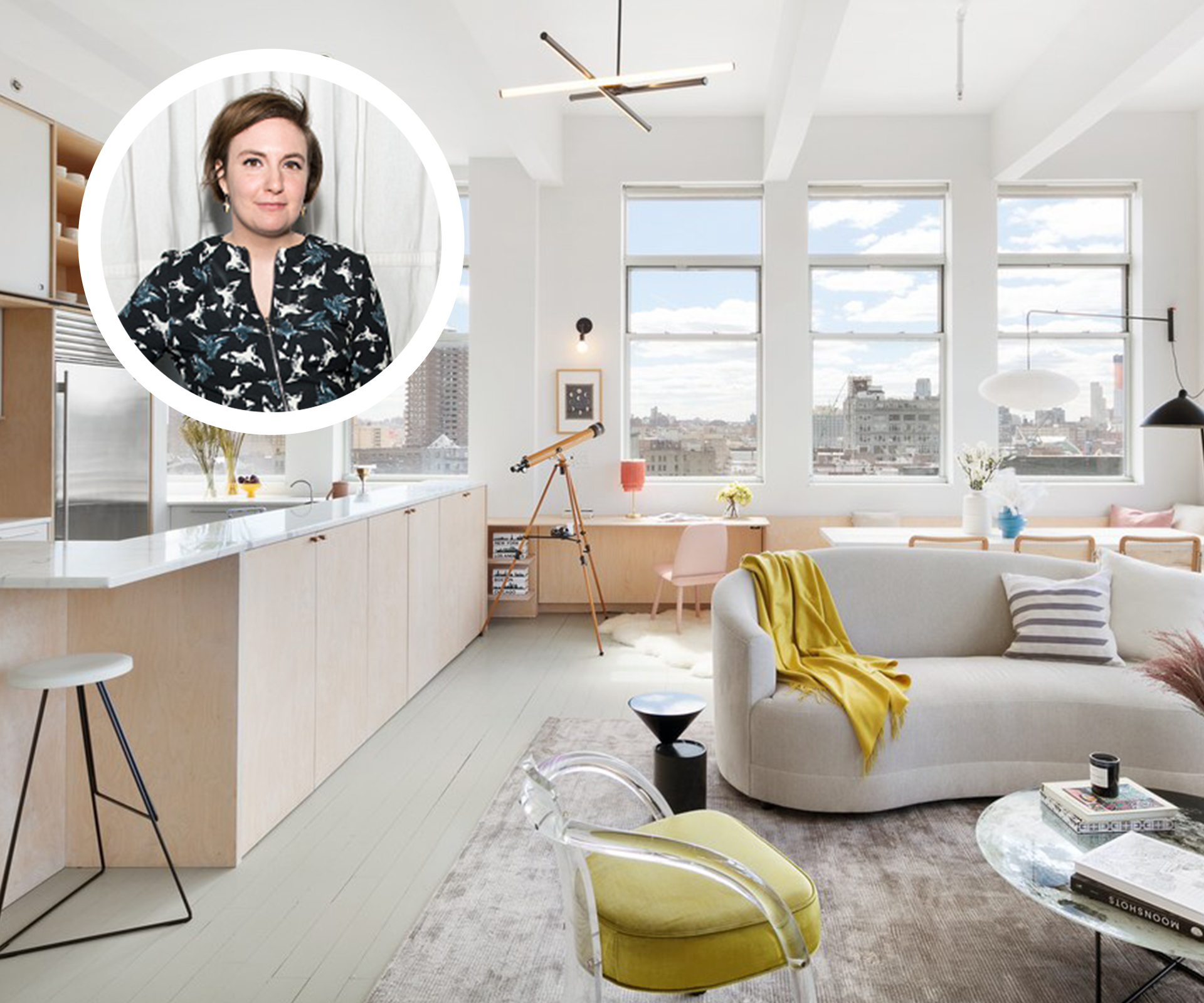 Lena Dunham's chic Brookyln apartment is for sale | real living
