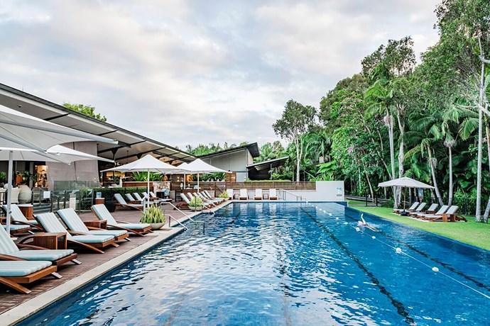 The pool at The Byron at Byron.