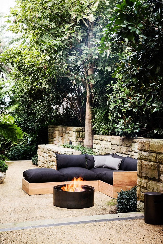 The Molly (Mel)Drum firepit, $1,495, can also be used as a rustic planter or coffee table if a timber top is selected.