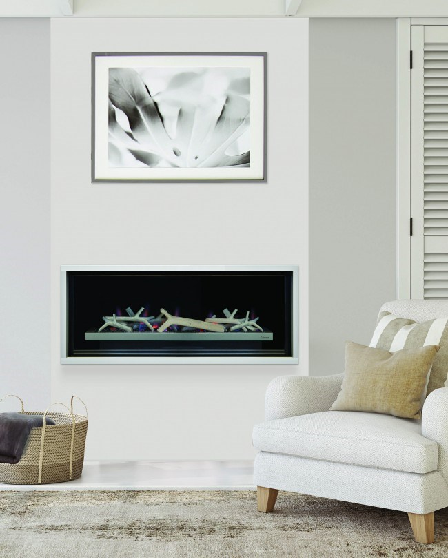 IXL's new Cannon Latitude fireplace is so sleek you'll barely notice it when it's not turned on.