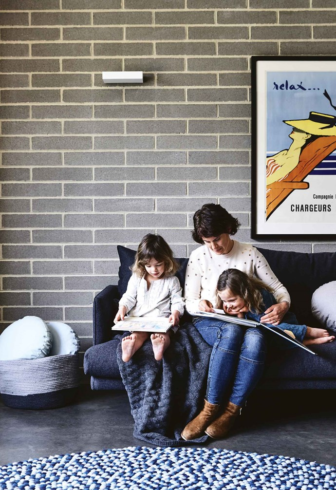 """Gabrielle and her husband James began having concepts drawn up and costed while they were expecting their twins five years ago. They then decided, having never undertaken a renovation project before, to look at other homes to ensure they were making the right decision. In the end, with the house's location within walking distance of schools, shops and the park, they decided it was worth investing in such a huge project.<br><br>**Living area** [Concrete floors](https://www.homestolove.com.au/concrete-floors-19778