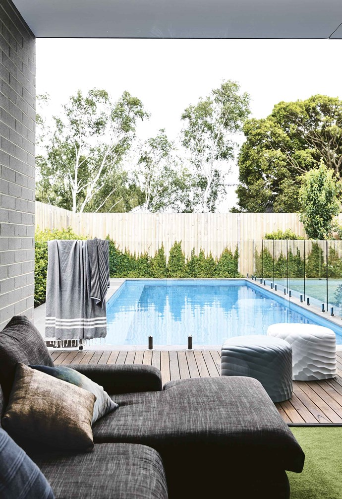 """From the day they moved back in, it's not just the immediate family who's enjoyed the new spaces. """"We had people here all weekend,"""" says Gabrielle. """"The whole summer we had friends around here swimming in the pool and enjoying themselves.""""<br><br>**Pool** Glass [pool fencing](https://www.homestolove.com.au/pool-fence-ideas-19710