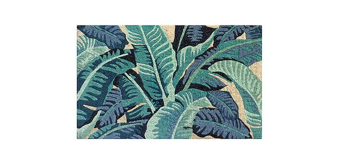 """Tropical Leaves Regular Doormat, $75, at [French Knot](https://www.frenchknot.com.au/products.php?c=&p=1987 target=""""_blank"""" rel=""""nofollow"""")"""