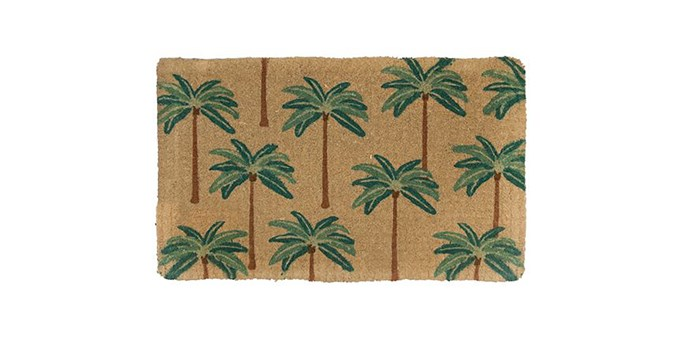"Doormat Designs Colonial Palms Natural Coir Doormat, $61, at [Peters of Kensington](https://www.petersofkensington.com.au/Public/Doormat-Designs-Colonial-Palms-Natural-Coir-Doormat.aspx target=""_blank"" rel=""nofollow"")"