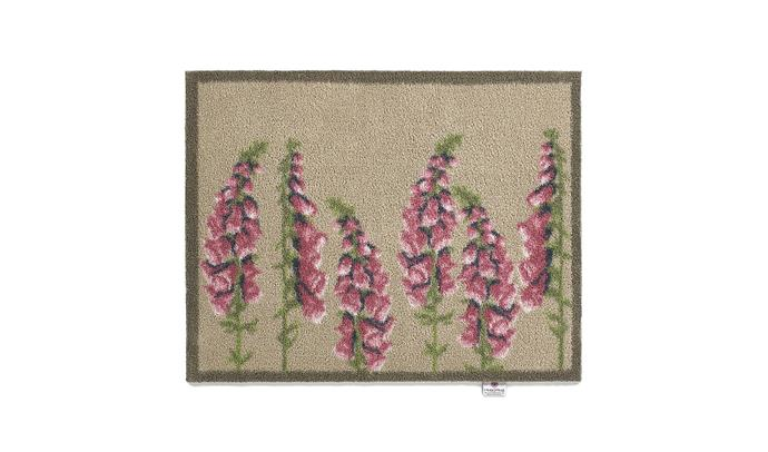 "Floral Washable Recycled Door Mat - Pink, $80, at [Amara](https://www.amara.com/au/products/floral-washable-recycled-door-mat-pink-65x85cm|target=""_blank""
