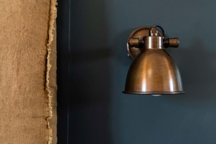 Every detail has been considered, down to the brass wall lights.
