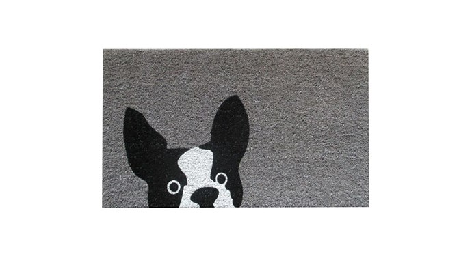 """FP Collection Door Mat, Frenchie, $25, at [Flower Power](https://www.flowerpower.com.au/fp-collection-door-mat-frenchie-179769 target=""""_blank"""" rel=""""nofollow"""")"""