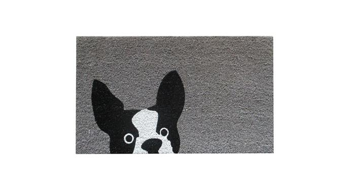 "FP Collection Door Mat, Frenchie, $25, at [Flower Power](https://www.flowerpower.com.au/fp-collection-door-mat-frenchie-179769|target=""_blank""