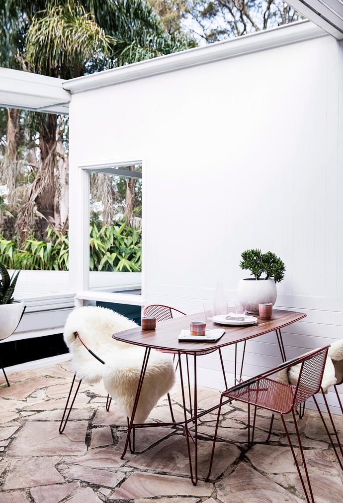 "Add some lush greenery to bring your outdoor space to life. Volley Chairs by Adam Goodrum, [Tait](https://madebytait.com.au/product/volley-chair/|target=""_blank""