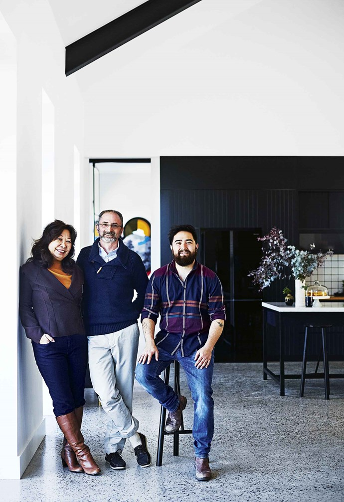 Then the real work began, with Allison taking on all the planning requirements and design drawing. A block with no restrictions on the size or style of the building might sound like a dream to city-bound renovators battling with local councils, but the location did throw up some planning challenges. <br><br>**Portrait** Owners Tracy and Peter with son Jono.