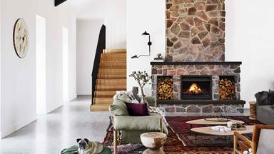 A cosy country farmhouse with modern interiors