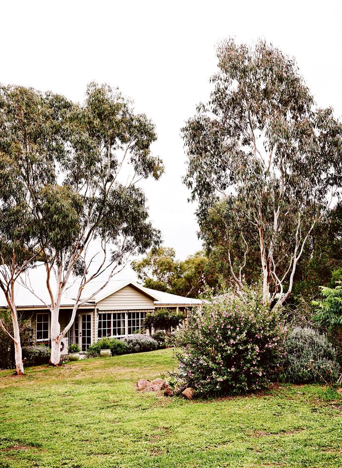The family home is set on two hectares on the outskirts of Inverleigh.