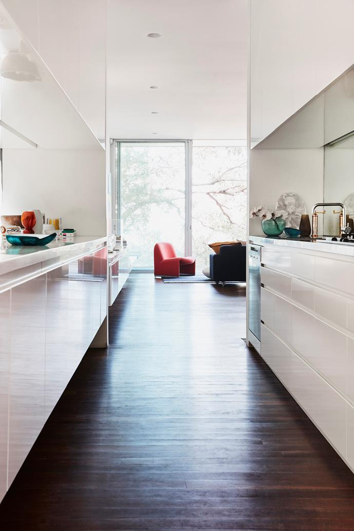 Australian hardwood flooring creates a lovely flow from room to room.